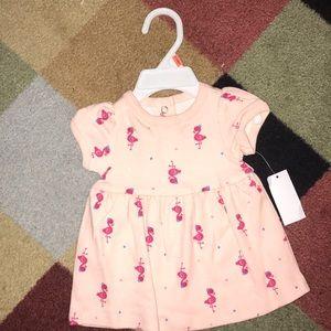 0-3 month old flamingo dress.